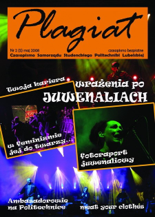 Plagiat : czasopismo Samorządu Studenckiego Politechniki Lubelskiej nr 5(5) maj 2008