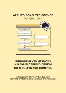 Applied Computer Science Vol. 7, No 1, 2011