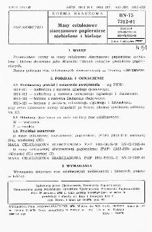 Masy celulozowe siarczanowe papiernicze niebielone i bielone BN-75/7312-04