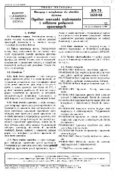 Maszyny i urządzenia do obróbki drewna - Ogólne warunki wykonania i odbioru połączeń spawanych BN-73/1610-03