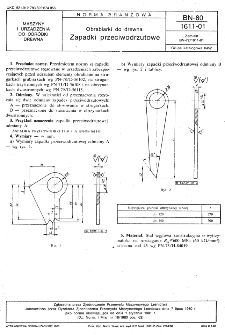 Obrabiarki do drewna - Zapadki przeciwodrzutowe BN-80/1611-01