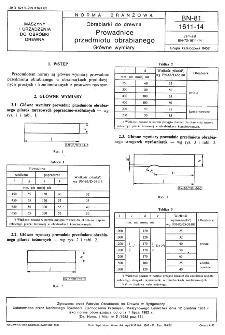 Obrabiarki do drewna - Prowadnice przedmiotu obrabianego - Główne wymiary BN-81/1611-14
