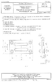 Obrabiarki do drewna - Pilarki tarczowe - Wsporniki do mocowania klinów rozszczepiających rzaz BN-74/1611-22