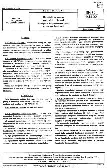 Obrabiarki do drewna - Frezarki i dłutarki - Wymagania bezpieczeństwa pracy w zakresie konstrukcji BN-75/1614-02