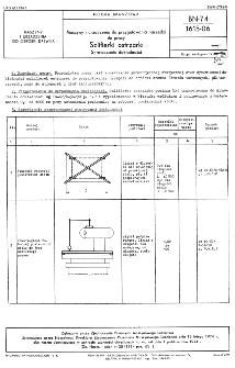 Maszyny i urządzenia do przygotowania narzędzi do pracy - Szlifierki ostrzarki - Sprawdzanie dokładności BN-74/1615-06