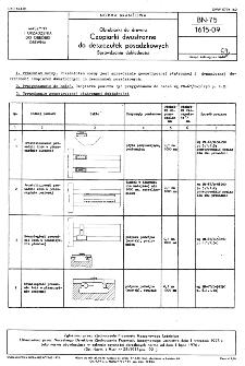 Obrabiarki do drewna - Czopiarki dwustronne do deszczułek posadzkowych - Sprawdzanie dokładności BN-75/1615-09