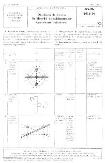 Obrabiarki do drewna - Szlifierki kombinowane - Sprawdzanie dokładności BN-76/1615-14