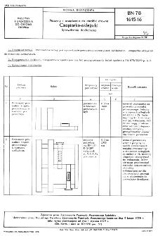 Maszyny i urządzenia do obróbki drewna - Czopiarko-oklejarki - Sprawdzanie dokładności BN-78/1615-16