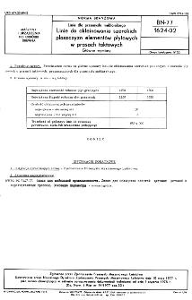 Linie do przemysłu meblarskiego - Linie do okleinowania szerokich płaszczyzn elementów płytowych w prasach taktowych - Główne wymiary BN-77/1624-02