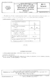 Linie do przemysłu meblarskiego - Linie do szlifowania pokryć lakierowych na szerokich płaszczyznach elementów płytowych - Główne parametry i wymiary BN-77/1624-06