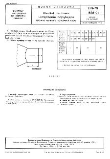 Obrabiarki do drewna - Urządzenia odpylające - Główne wymiary końcówek ssaw BN-79/1635-01
