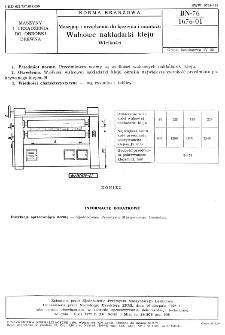 Maszyny i urządzenia do łączenia i montażu - Walcowe nakładarki kleju - Wielkości BN-76/1676-01