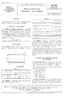 Maszyny włókiennicze - Cholewy z poliuretanu BN-89/1814-02