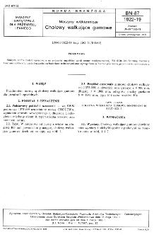 Maszyny włókiennicze - Cholewy wałkujące gumowe BN-87/1822-19