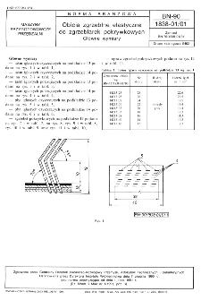 Obicia zgrzeblne elastyczne do zgrzeblarek pokrywkowych - Główne wymiary BN-90/1838-01/01