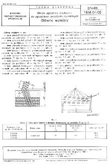 Obicia zgrzeblne elastyczne do zgrzeblarek przędzalń zgrzeblnych - Główne wymiary BN-88/1838-01/02