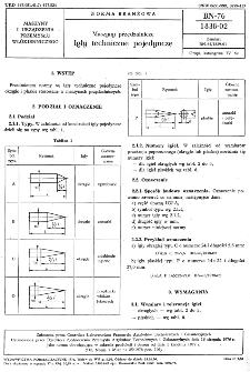 Maszyny przędzalnicze - Igły techniczne pojedyncze BN-76/1838-02