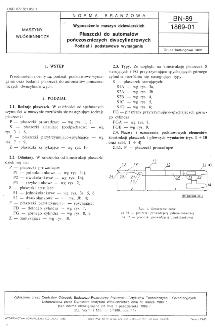 Wyposażenie maszyn dziewiarskich - Płaszczki do automatów pończoszniczych dwucylindrowych - Podział i podstawowe wymagania BN-89/1869-01