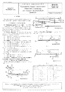 Wyposażenie maszyn dziewiarskich - Płaszczki i sprężyny do maszyn dziewiarskich płaskich BN-90/1869-02