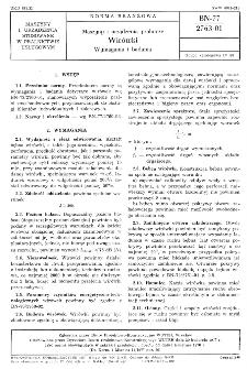 Maszyny i urządzenia pralnicze - Wirówki - Wymagania i badania BN-77/2763-01
