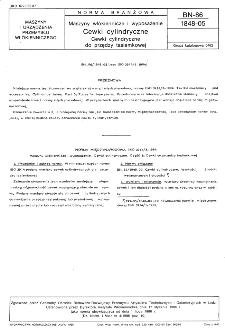 Maszyny włókiennicze i wyposażenie - Cewki cylindryczne - Cewki cylindryczne do przędzy tasiemkowej BN-86/1848-05