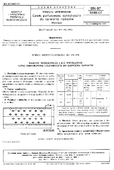 Maszyny włókiennicze - Cewki perforowane cylindryczne do barwienia nawojów - Wymiary BN-87/1848-07