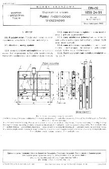 Wyposażenie krosien - Ramy nicielnicowe wieszakowe BN-89/1858-24/01