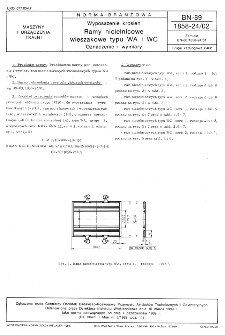 Wyposażenie krosien - Ramy nicielnicowe wieszakowe typu WA i WC - Oznaczenie i wymiary BN-89/1858-24/02