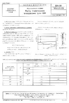 Wyposażenie krosien - Ramy nicielnicowe wieszakowe typu WH BN-89/1858-24/05