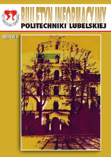Biuletyn informacyjny Politechniki Lubelskiej 1(2)/1999