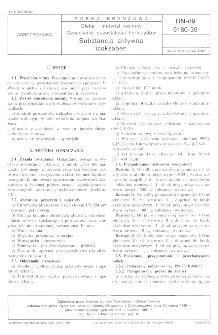 Gleba i materiał roślinny - Oznaczanie pozostałości herbicydów - Substancja aktywna - izoksaben BN-89/9180-39