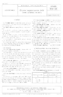 Ocena zagęszczenia zbóż - Owies uprawiany na ziarno BN-88/9181-05