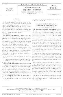 Unieszkodliwianie odpadów miejskich - Metody oznaczania wskaźników nagromadzenia BN-87/9103-04
