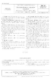 Unieszkodliwianie odpadów miejskich - Oznaczanie odczynu (pH w H2O) w kompoście z odpadów miejskich BN-90/9103-11