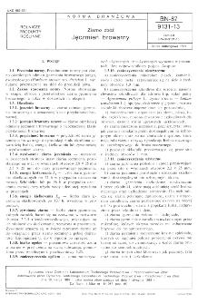 Ziarno zbóż - Jęczmień browarny BN-87/9131-13