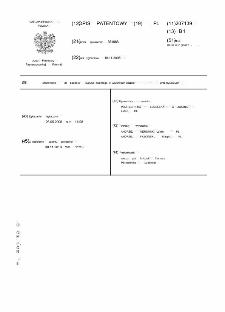 Stanowisko do badania zużycia ściernego w warunkach zawiesin przemysłowych opis patentowy nr 207139
