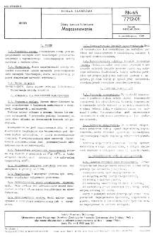 Skóry surowe futerkowe - Magazynowanie BN-65/7712-01
