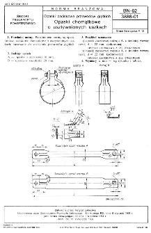 Opaski zaciskowe przewodów giętkich - Opaski chomątkowe o usztywnionych uszkach BN-62/3886-01