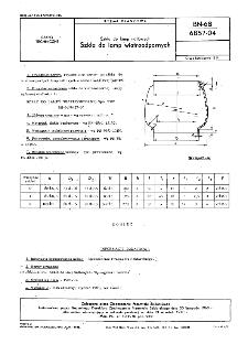 Szkła do lamp naftowych - Szkła do lamp wiatroodpornych BN-68/6857-04