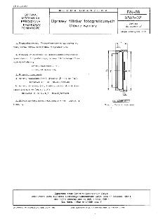 Oprawy filtrów fotograficznych - Główne wymiary BN-88/5555-02