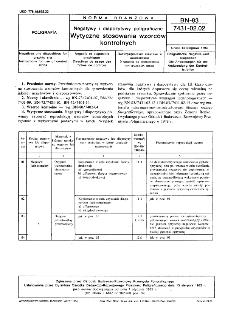 Negatywy i diapozytywy poligraficzne - Wytyczne stosowania wzorców kontrolnych BN-83/7431-02.02