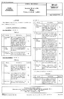 Aerostaty. Balony wolne - Masy - Nazwy, okreslenia i symbole BN-63/3850-01