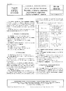 Sprzęt gospodarstwa domowego - Wyroby z blachy stalowej ocynowane ogniowo - Ogólne wymagania i badania BN-86/4933-02