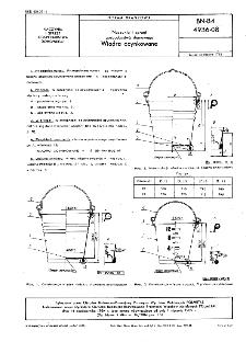 Naczynia i sprzęt gospodarwstwa domowego - Wiadra ocynkowane BN-84/4936-08
