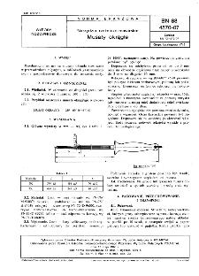 Narzędzia rzeźniczo-masarskie - Musaty okrągłe BN-88/4570-07