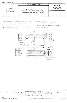Zamki lotnicze zaciskowe przewodów elektrycznych BN-63/3884-01