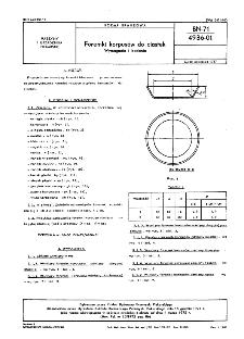 Foremki korpusów do ciastek - Wymagania i badania BN-71/4936-01