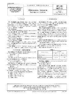 Otwieracze konserw - Wymagania i badania BN-86/4967-01