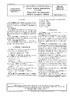 Artykuły metalowe gospodarstwa domowego - Pojemniki na pieczywo - Wspólne wymagania i badania BN-81/4972-02
