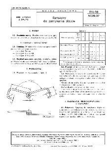 Sprężyny do zamykania słojów BN-89/5099-02